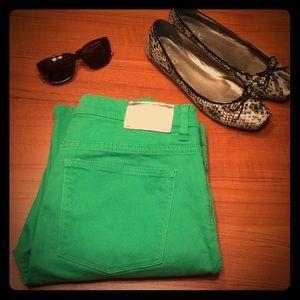 Lauren Ralph Lauren green cropped jeans sz 12